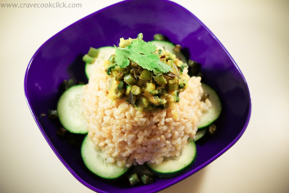 Brown Rice with French Beans and Fenugreek Vegetable Recipe