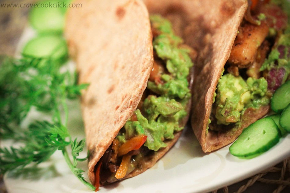 Whole Wheat Tortilla with Grilled chicken & Guacamole Recipe