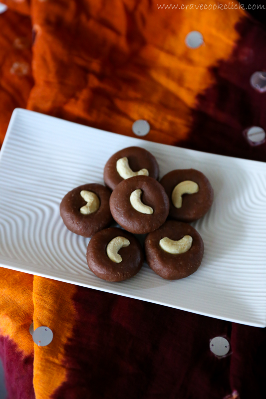 Chocolate Peda Recipe-Easy Diwali Delicacy