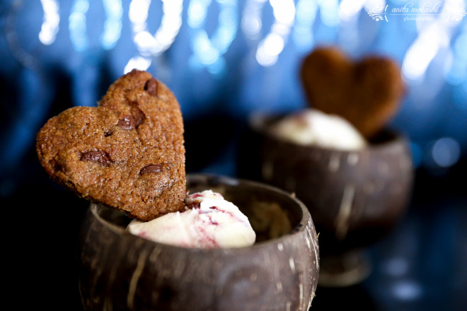 Heart shaped cookie ice cream Recipe