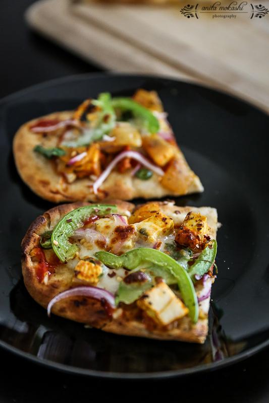 Paneer Naan Pizza Recipe/ How to make paneer Pizza
