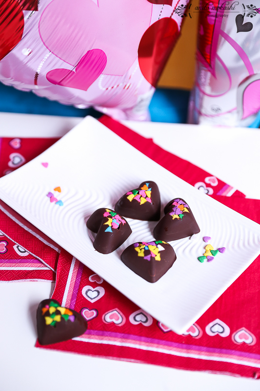 Chocolate Hearts Recipe/How to make Chocolate Hearts/Valentine's Day Recipe
