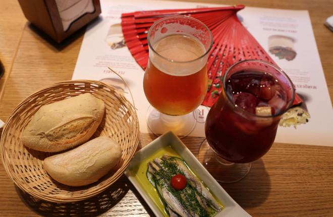 Sardin Tapas, Beer and Sangria