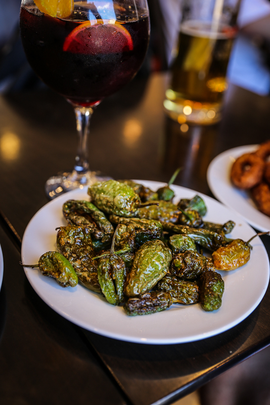 Chiles Toreados..local delicacy..They are also known as Padron Peppers