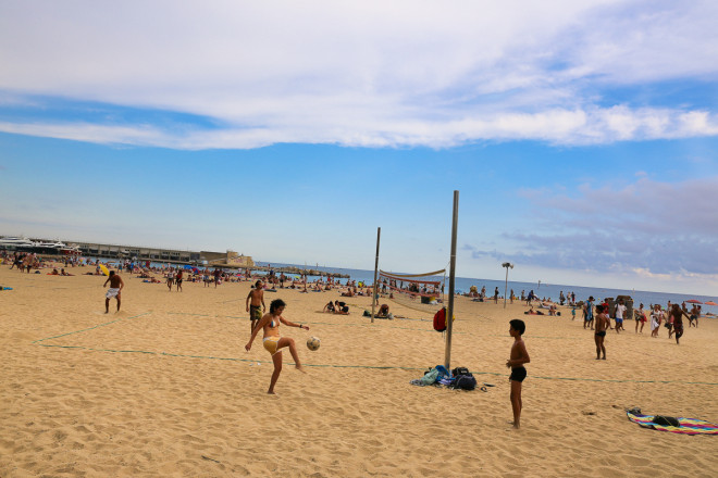 and finally the Barcelona beach..also know as Barcelonita