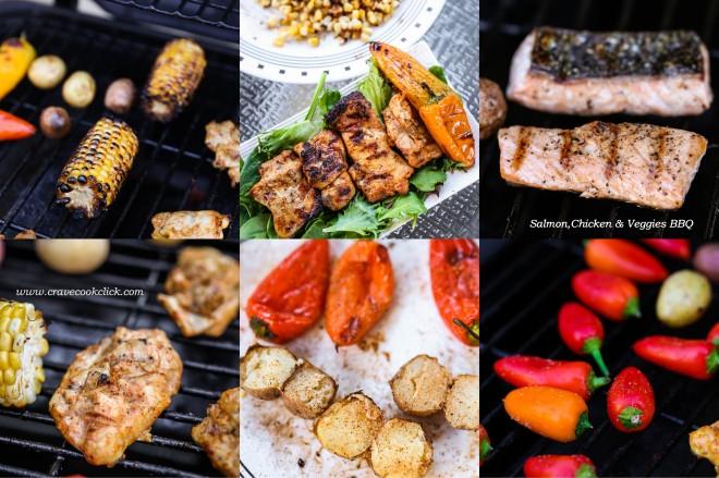 12 660x439 Salmon, Chicken & Veggies BBQ