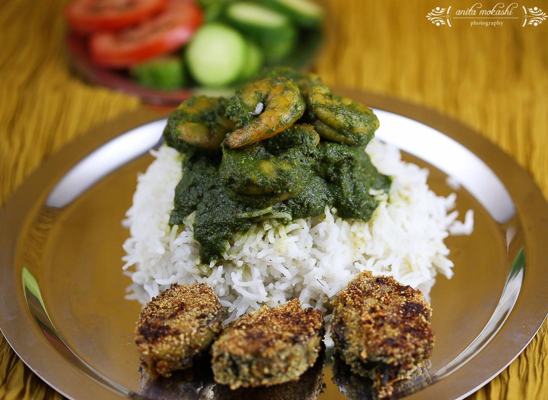IMG 9536 Green Prawns Curry with Bangda Fry Recipe/How to make green prawns