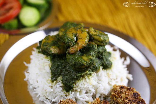 IMG 95371 660x440 Green Prawns Curry with Bangda Fry Recipe/How to make green prawns