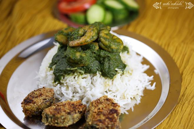 IMG 95451 660x440 Green Prawns Curry with Bangda Fry Recipe/How to make green prawns