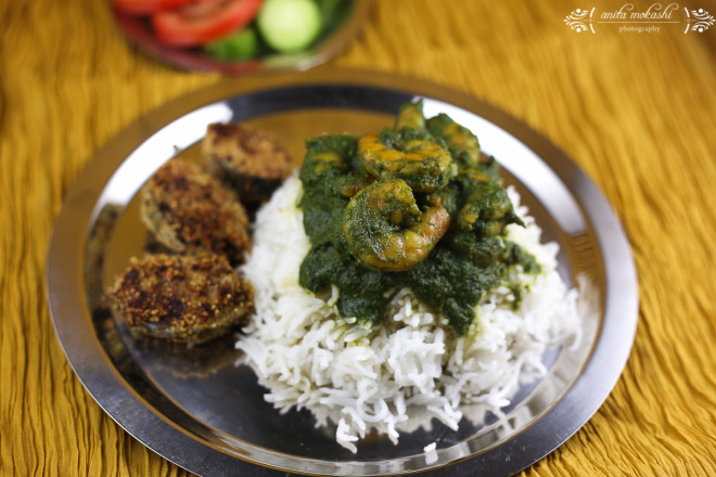 IMG 95591 660x440 Green Prawns Curry with Bangda Fry Recipe/How to make green prawns