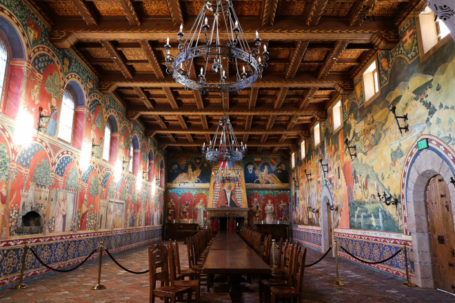 The Great Hall at the Castello. Those frescoes are hand-painted