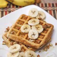 Whole Wheat Banana Almond Waffles Recipe