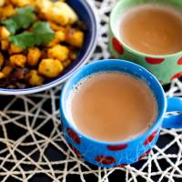 Adrak Elaichi Chai with Bread Upma Recipe