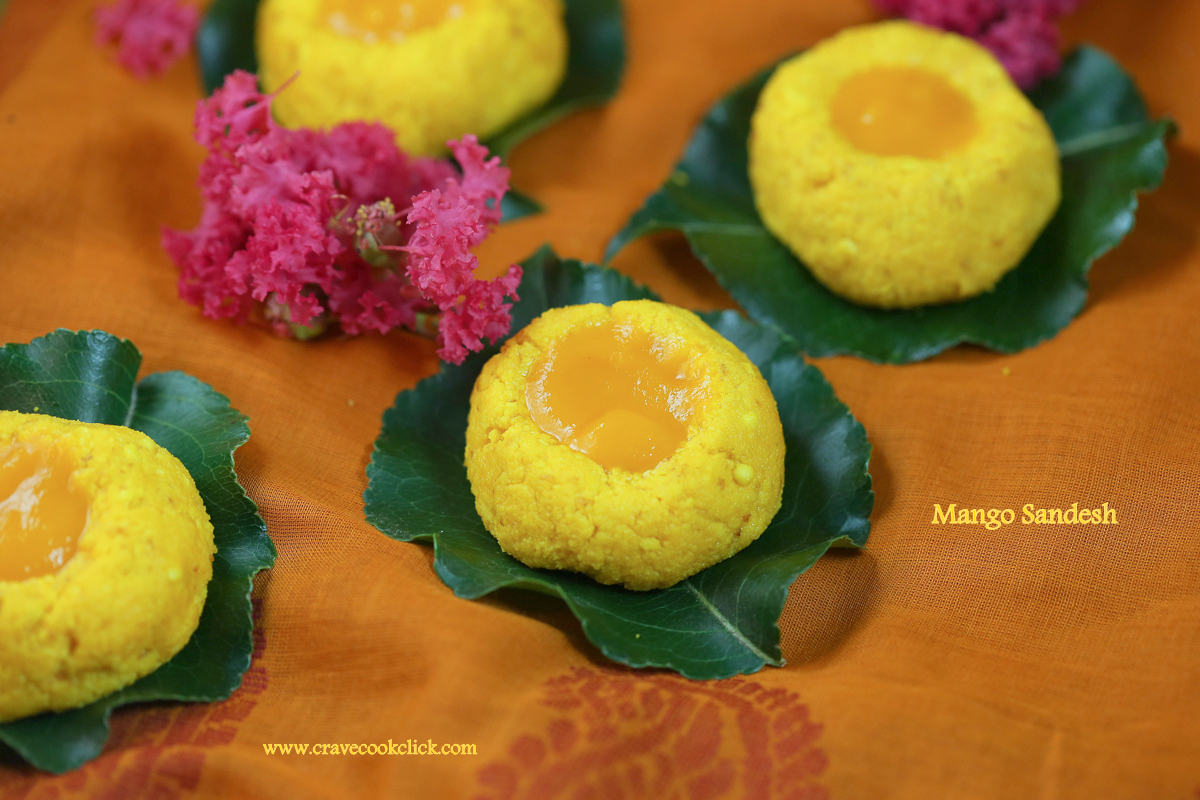 Aam Sandesh/Mango Sandesh Recipe: Mango flavored cottage cheese based Bengali sweet