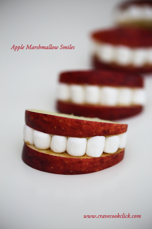 Apple Marshmallow Smiles