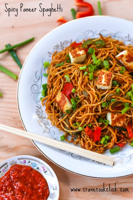15 Spicy Paneer Spaghetti Recipe