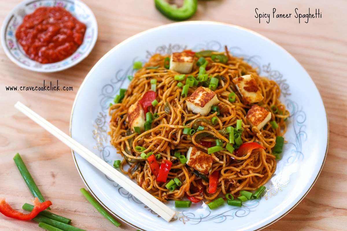91 Spicy Paneer Spaghetti Recipe