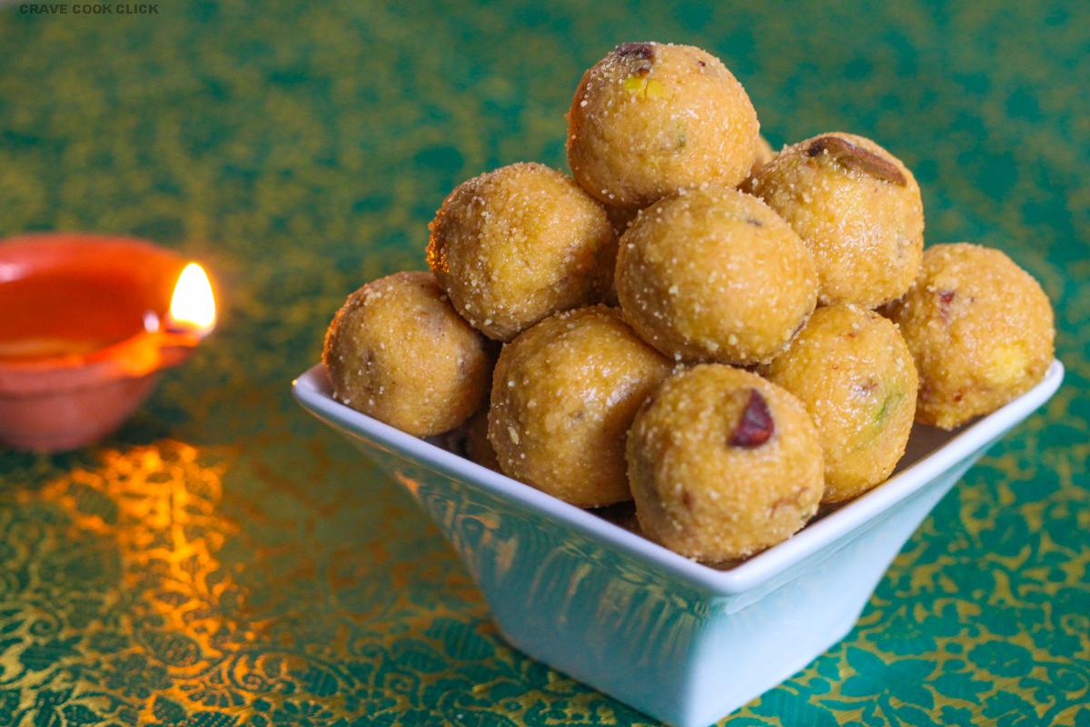 IMG 9484 2 Rava Besan Ladoo Recipe