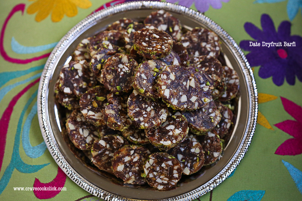 Date Dryfruits Barfi Recipe/How to make date barfi