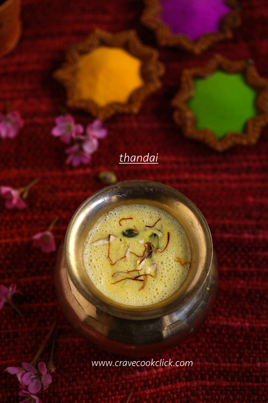 Thandai Recipe, How to make thandai