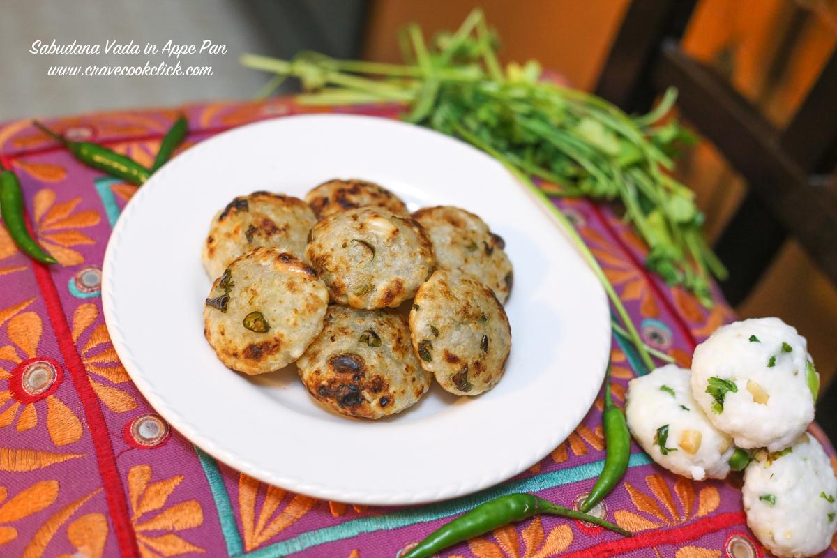 Sabudana Vada in Appe Pan/Healthy Sabudana Vada Recipe, roasted sabudana vada, how to make sabudana vada