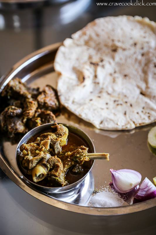 Mutton Rassa and Bhakri Recipe