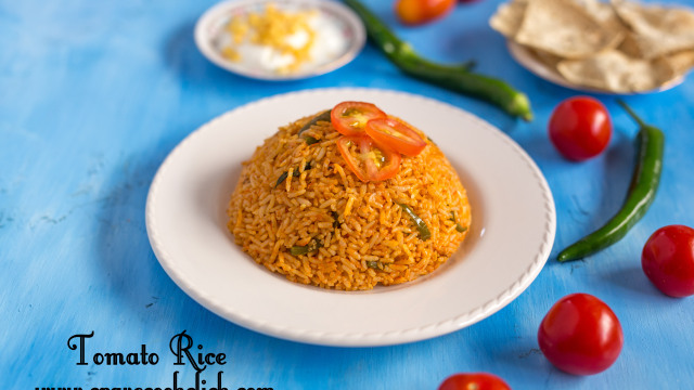 tomato rice recipe, how to make tomato rice, thakkali sadam recipe