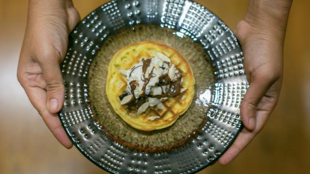Nutella Waffle Icecream