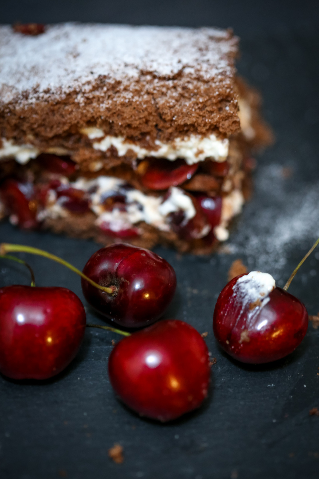 cherrypicking, chocolate cake, california, cherrypicking bay area, sponge cakes, rum cake, how to make swiss rolls, fruits, baking, easy cake recipes, food photography, food blogging, brentwood farms, nun better farms