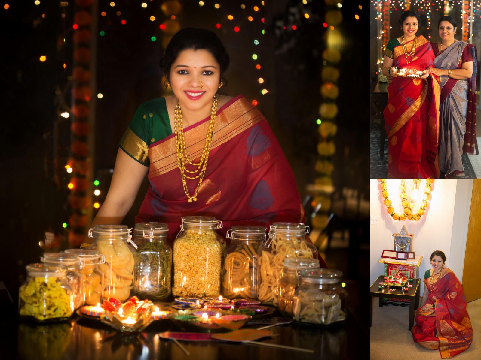 laxmipujan, sev recipe, kalakand recipe, diwali2017, diwalirecipes, diwali celebrations, saree, indian festivals