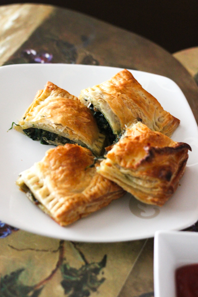 Spinach Mushroom & Cheese Puff Pastry Recipe