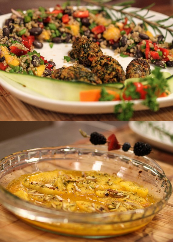 Vegetable Kebabs & Orange Paradise Recipe