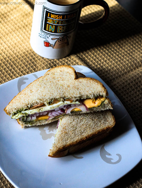 Veg Cheese Sandwich Recipe
