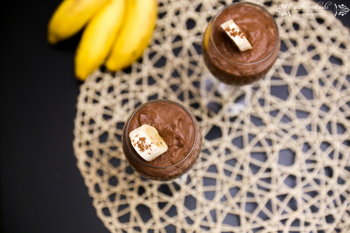 Eggless Chocolate Banana Mousse Recipe/How to make eggless chocolate mousse