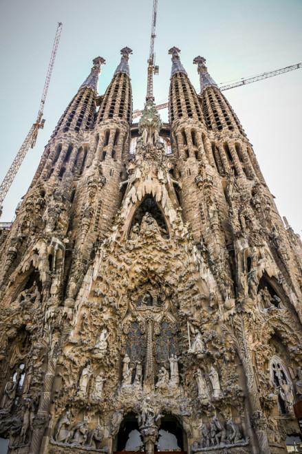 La Sagrada Familia is a large Roman Catholic church in Barcelona, Spain, designed by Catalan architect Antoni Gaudí (1852–1926).