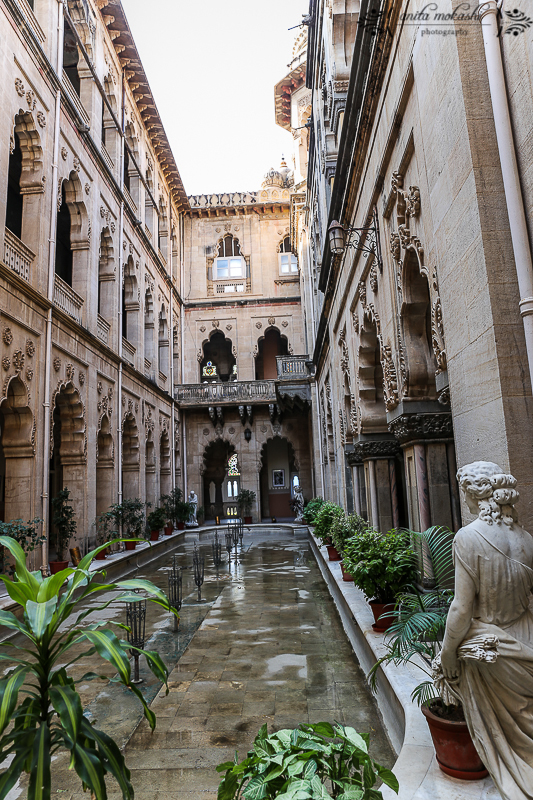 Outside of the Darbar Hall is an Italinate courtyard of water fountains