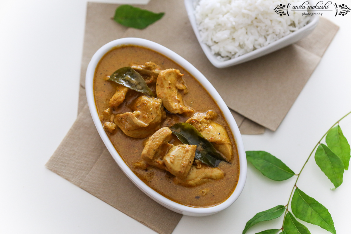 Curry leaves based South Indian chicken curry