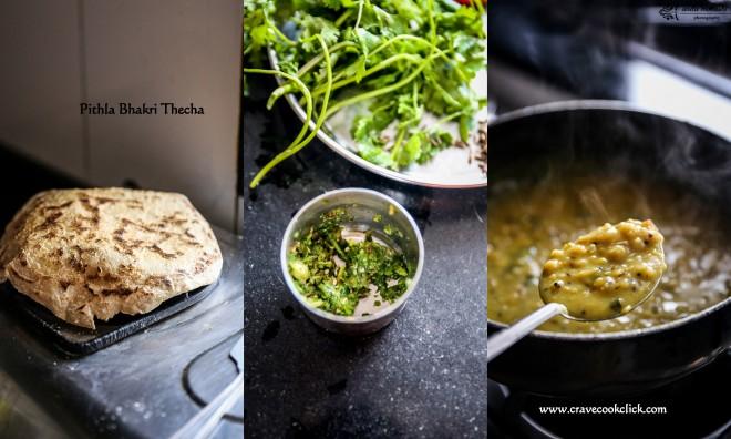 Pithla Bhakri Thecha Recipe