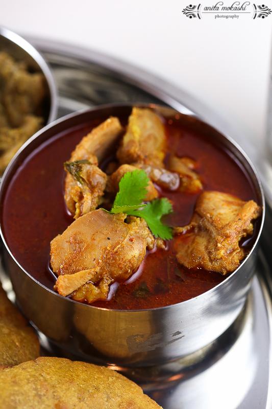 Malvani Chicken Thali Recipe