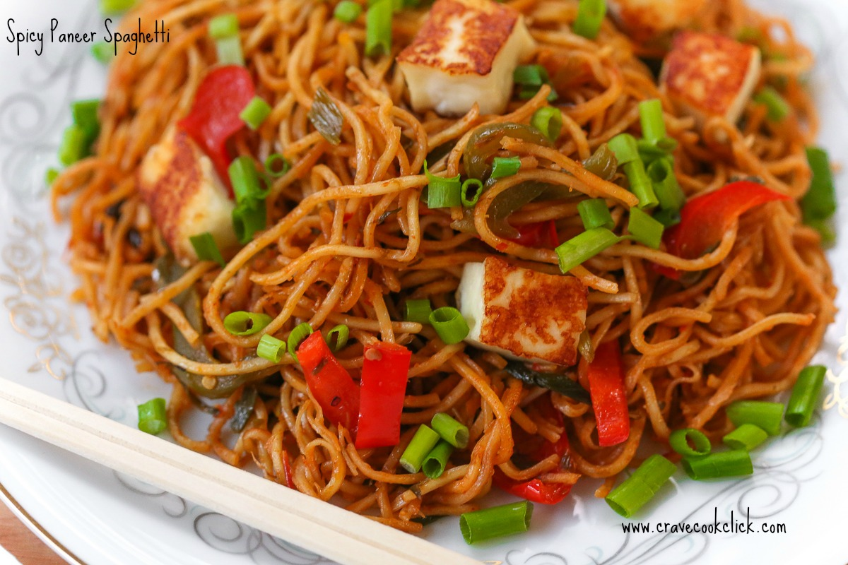 Spicy Paneer Spaghetti RecipeSpicy Paneer Spaghetti Recipe