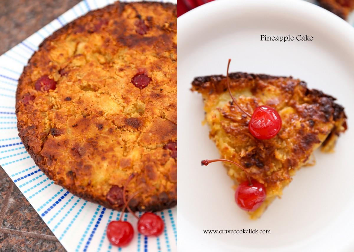 Eggless Pineapple Cake Recipe