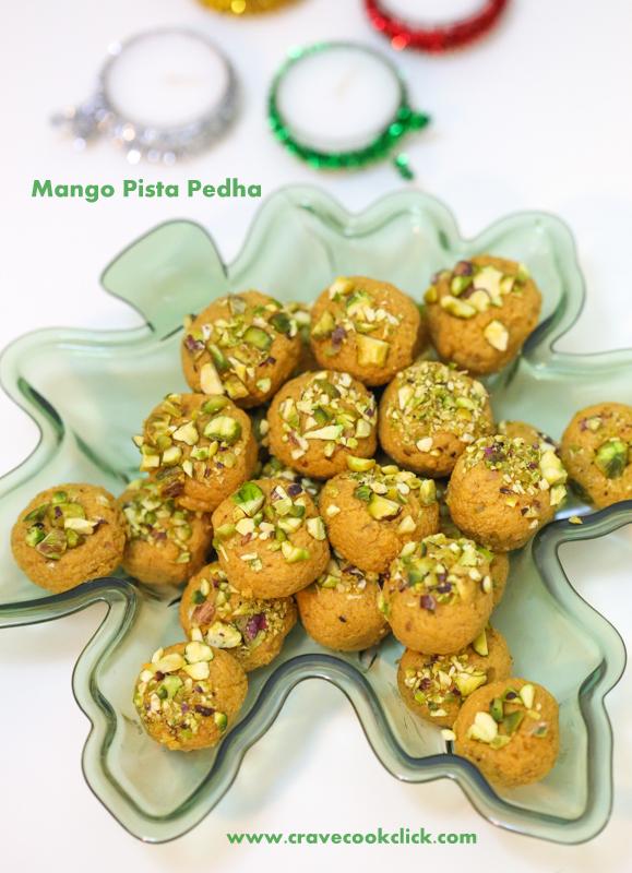 Mango Pista Pedha Recipe