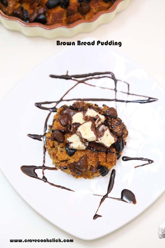 Brown Bread Pudding Recipe, How to make Brown Bread Pudding,Old Fashioned and Easy Bread Pudding