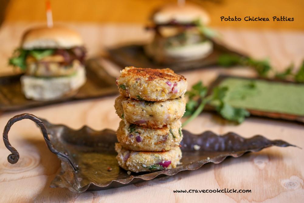 How to make chickpea patties, Easy Chickpea potato patties, Slider Patties