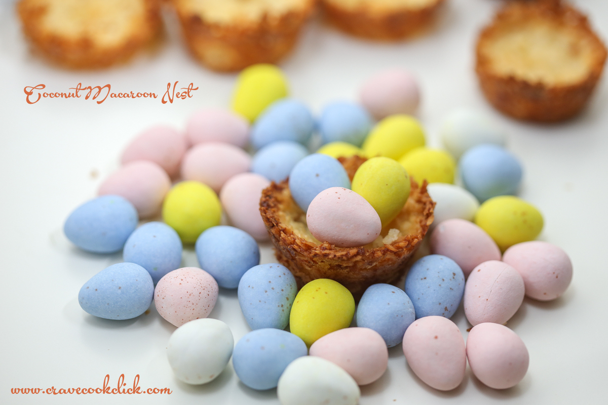 Coconut Macaroon Nest Recipe Easter Special