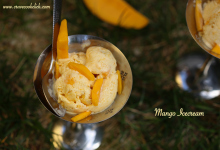 mango ice cream recipe, how to make mango ice cream, easy mango ice cream recipe, ice cream without ice cream maker, mango recipes, dessert, homemade mango ice cream,