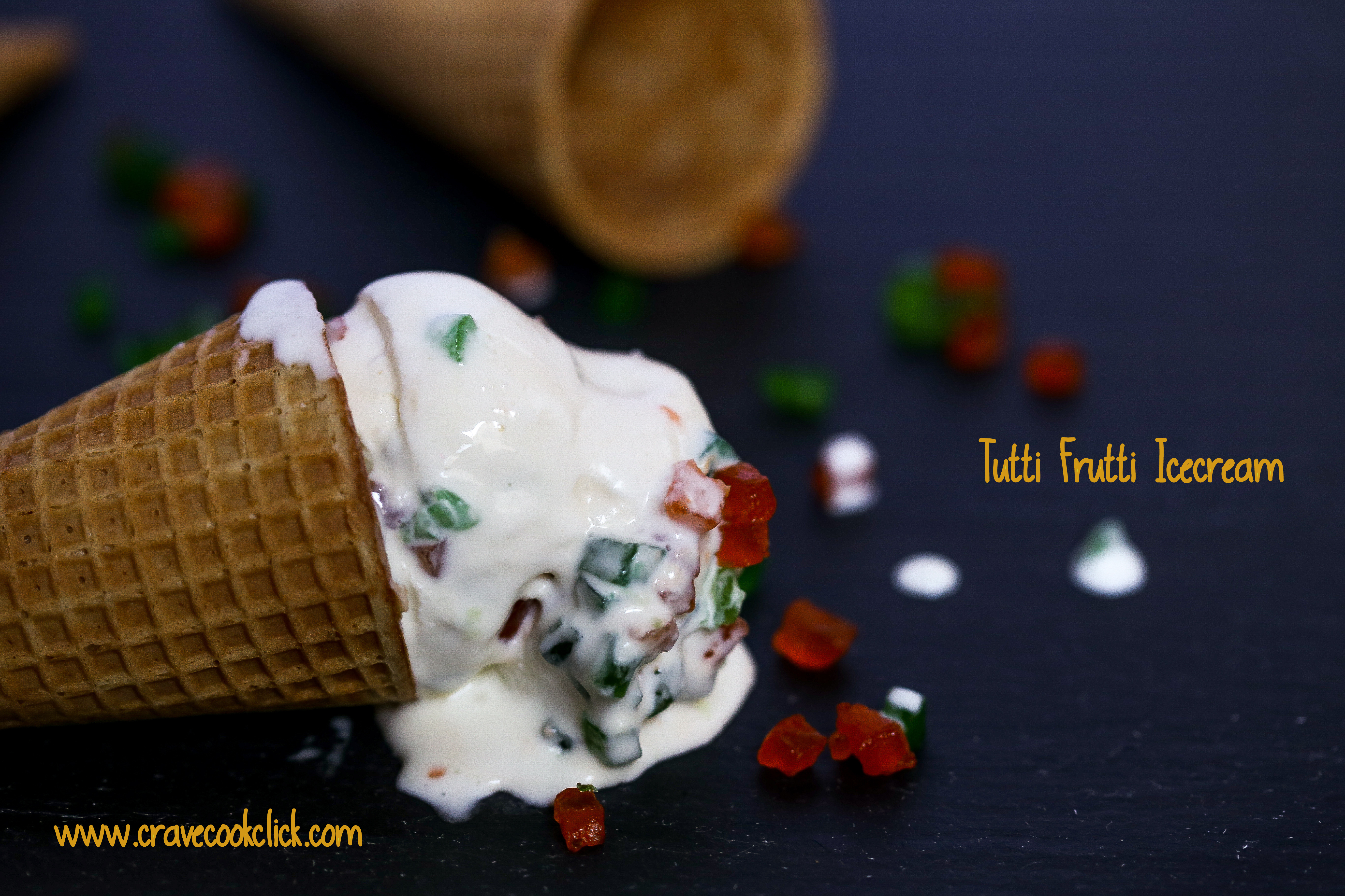 tutti frutti icecream, homemade icecream, how to make tutti frutti, easy icecream recipe