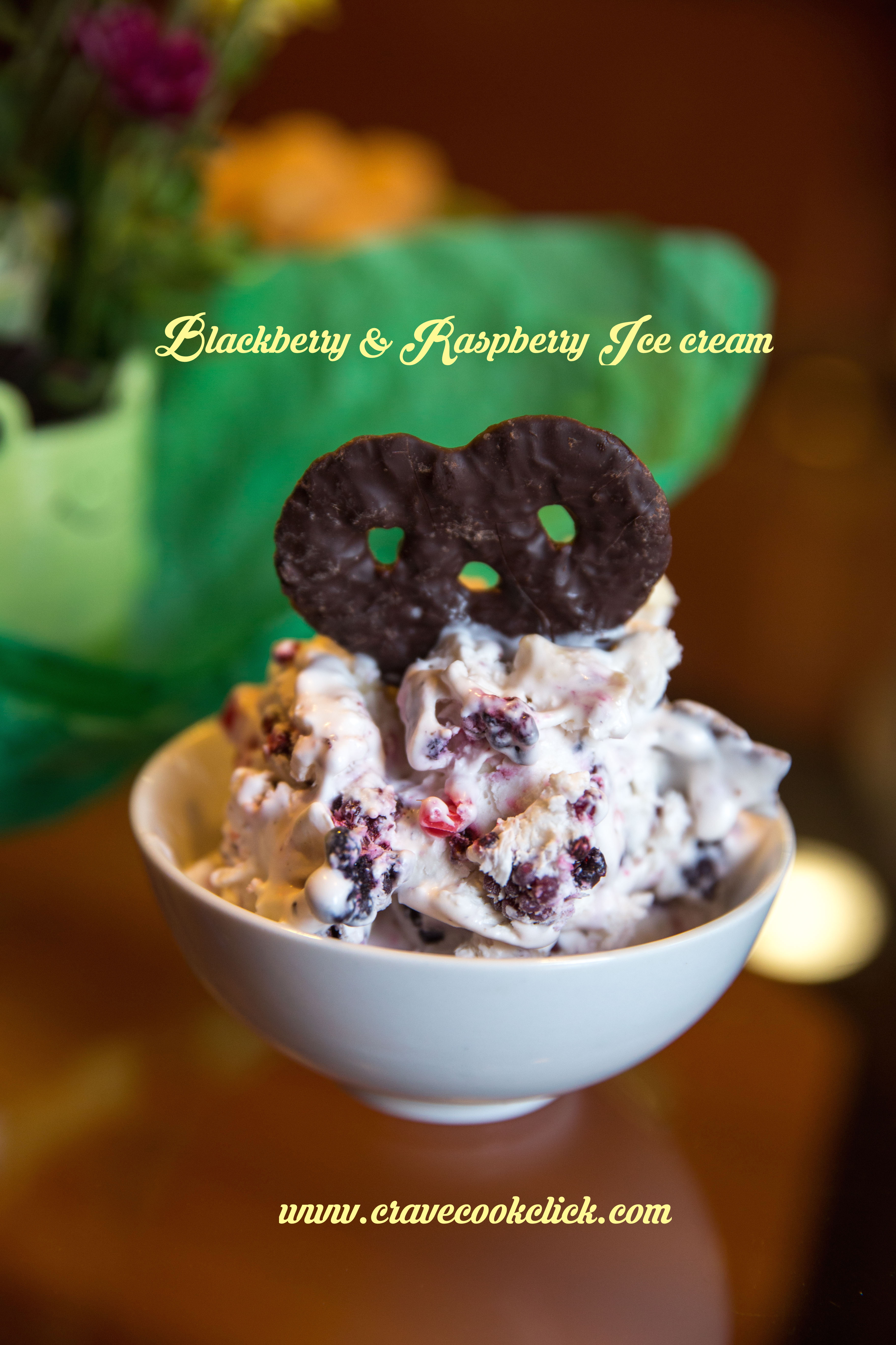 Blackberry & Raspberry Ice cream Recipe