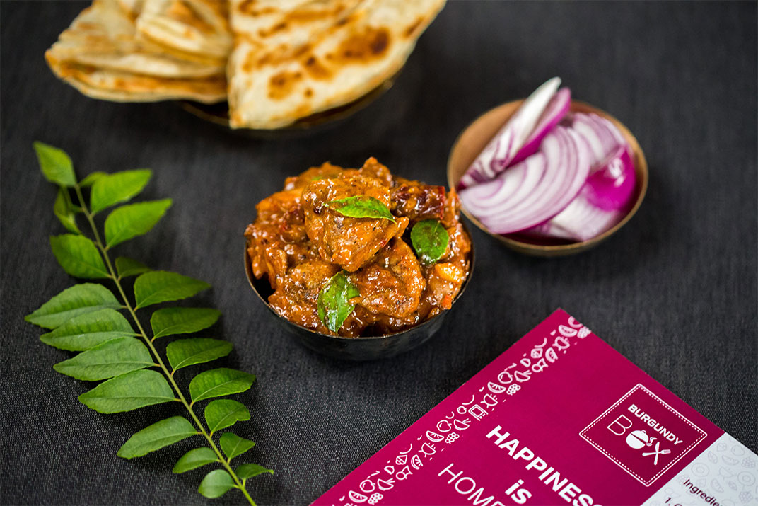 Burgundy Box's Chettinad Chicken Curry, Ready to cook meals in Mumbai, DIY meals, food ventures