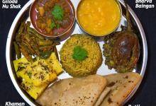 Gujarati Thali Recipe, Gujarati food, Indian food recipes